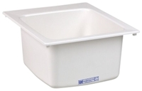 11 White 17 In X 20 In X 10 In Molded Fiberglass Countertop Laundry Sink CAT124,11,11WH,999000018402,M11DI,12401490,671031002532