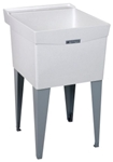 18f White 24 In X 20 In X 14-3/8 In Molded Fiberglass Floor Laundry Sink CAT124,18F,671031000262,24374014,FIAFL1,FL1,12301172,FL-1,12301172,12301172,999000019044,M18F,12401527