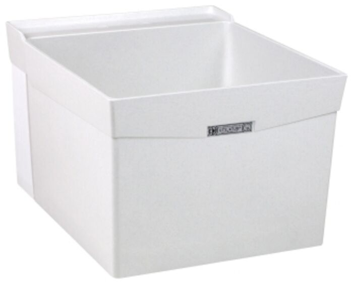 18w White Single Wall Durastone Utility Sink CAT124,18W,671031000279,24374001,FIAL1,L1,12301198,L-1,12301198,12301198,999000018603,M18W,12401501