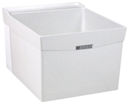 18w White 24 In X 20 In X 14-3/8 In Molded Fiberglass Wall Laundry Sink CAT124,18W,671031000279,24374001,FIAL1,L1,12301198,L-1,12301198,12301198,999000018603,M18W,12401501