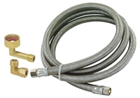 41045 Eastman 3/8 Braided Stainless Steel Dishwasher 72 Water Line CAT191,41045,091712410454,EDW