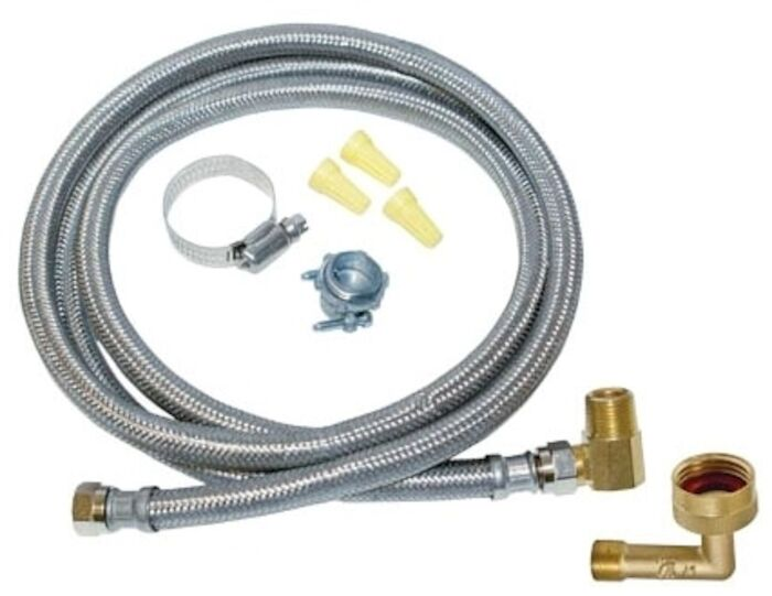 48366 Eastman 3/8 Braided Stainless Steel Dishwasher 96 Water Line CAT191,48366,091712483663