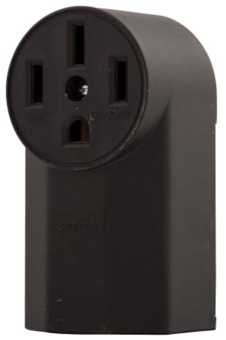 1225 Eaton Power Surface Straight Blade 125/250 Volts Black Glass Reinforced Nylon Electrical Receptacle CAT752C,1225,032664305702