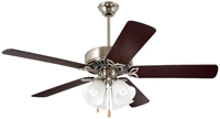 Cf711bs Pro Series Ll 50 Ceiling Fan 5403 Cfm Brushed Steel Housing/dark Cherry/walnut Blade/opal Matte Glass CAT719E,ECF,030844011306
