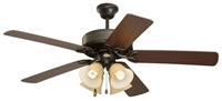 Cf711ors Pro Series Ll 50 Ceiling Fan 5403 Cfm Oil Rubbed Bronze Housing/dark Cherry/medium Oak Blade/amber Scavo Glass CAT719E,CF711ORS,30844027420,030844027420
