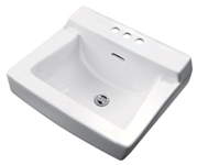G0012314 Gerber Plymouth White 3 Hole Wall Mount Bathroom Sink CAT132,13001706,10300150,13025701,10300150,13203401,12314WH,12314,740377032623,617052000539,671052000784,12314,GL3,GWL,GWLWH,GLWH,0325375486,12314,HANDICAP,ADA,GWHL,13202601,12314,671052000531