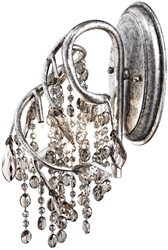 Autumn Twilight Msi 3 Lt Mystic Silver/electroplated With Smoke Bead/leave Steel/crystal Bead/leave Wall Sconce CATGOL,9903-WSC MSI,844375015586,9903WSCMSI,MFGR VENDOR: GOLDEN,PRCH VENDOR: GOLDEN