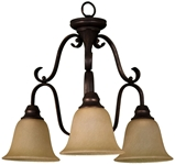 Fch-3dts-rb Frisco 3 Lt Oil Rubbed Bronze Body Tea Stained Glass Metal Chandelier CATSUN,FCH-3D(TS)-RB,FCH-3D(TS)-RB,78692912948