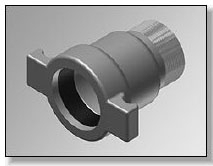 80-170 Harco 2 Male Adapter Belled X Male Threaded Ductile Iron Fitting & Flange CAT474,