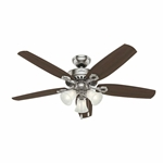 53237 Builder Plus 52 In Ceiling Fan Indoor Brushed Nickel CATCAS,53237,49694532411,049694532374