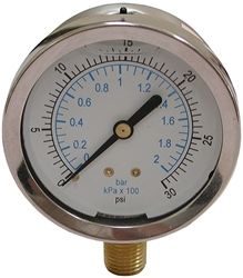 0-300psi Liq Filled Press Gauge CAT250,J40557,717510405576,G0300,1777,71751040557,LFG300,