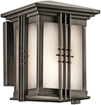 49157oz D-w-o Portman Square 6 X 8 1 Lt Olde Bronze/etched Seeded Glass 18 Watts Light Fixture CATO731K,49157OZ,783927305181