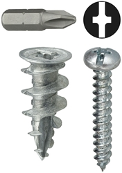 #8 Anchor Kit Wall Driller Zinc Includes Phillips CAT763,WDK8,29786,