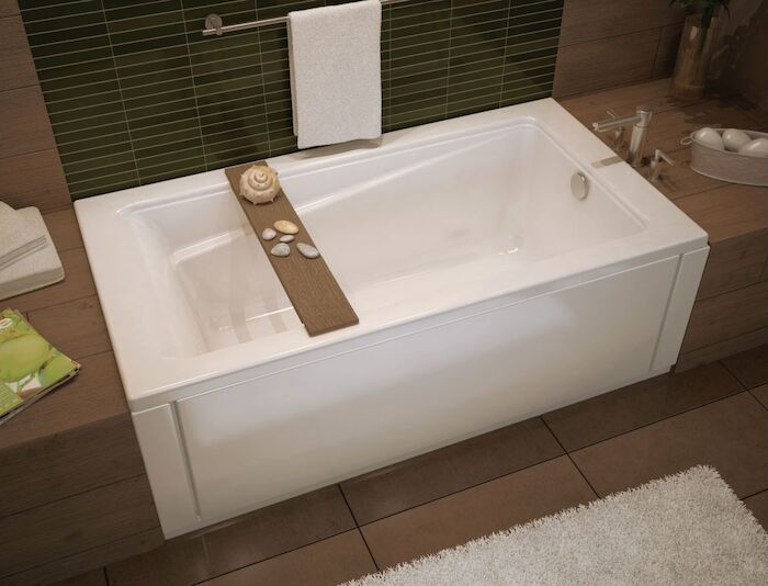 106170-000-001 Maax Exhibit White 5 Ft Drop-in Bathtub CATMAX,