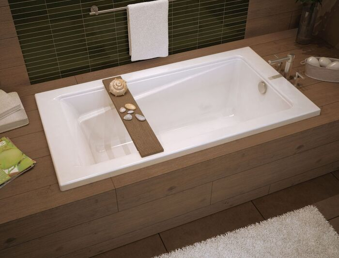 106181-000-001 Maax Exhibit White 6 Ft Drop-in Bathtub CATMAX,106181000001,MFGR VENDOR: MAAX,PRCH VENDOR: MAAX,