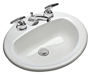 237-4 Mansfield Ms Oval White Drop-in Bathroom Sink CATMAN,237-4,2374,237-4,2374,820-94,82094,MAN2374,