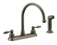 Pa-240orb Matco Portia Ada Oil Rubbed Bronze Lf 8 In Centerset 4 Hole 2 Handle Kitchen Faucet With Matching Spray CAT149,PA-240ORB,82647011199,PA240ORB,AE925ORB,AE-925ORB,MNORB,MNKSF,KSF,2HKSF