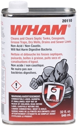 20110 Oatey Wham 1 Quart Colorless Drain Cleaner CAT468O,20110,20110,20110,20110,20110,20110,032628201101