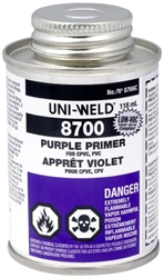 1/2 Pt 8756s Purple Pvc Primer Nsf Approved Uni-weld Up8 CAT468U,UP8,87008,46810592,8756S,12PPP,083675087569
