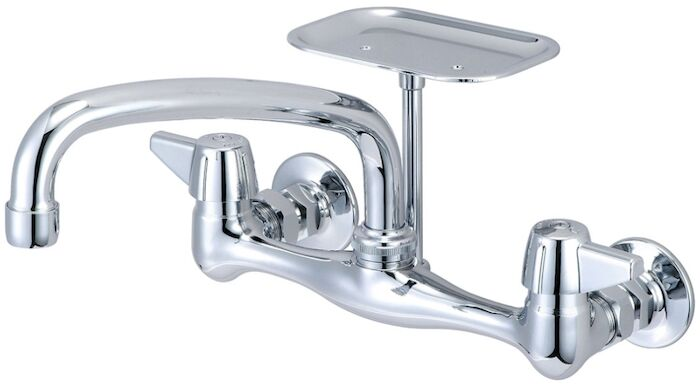 "0048-ua1 Lf Wall Mount Faucet W/8"""" Tube Spout W/soap Dish Central Brass CAT152,CW8,48UA1,CEN48UA1,CWM8,15101355,49A,0048UA1,48UA1,15203656,763439003409,30763439003400"