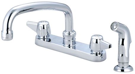 Central Brass Ada Pc Lf 6 Centerset 4 Hole 2 Handle Kitchen Faucet Side Spray CAT152,CL349,763439012258,30763439012259