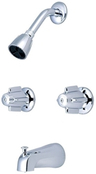 0997 Central Brass Polished Chrome 2 Handle Tub & Shower Faucet CAT152,LNG,997,CEN997,15100407,32,997,15202880,763439021120,30763439021121