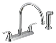 P4b-260c Matco Ada Pol Chrome Lf 8 In Centerset 4 Hole 2 Handle Kitchen Faucet With Matching Spray CATMATFPL4,P4B-260C,82647146938,P4B260C,BL-260C,BL260C,MSF,MNKSF,2HKSF,KSF,BL-260C,082647139411,GREEN,green,MATCO GREEN,LEAD FREE,BL260C,P4B-260C,P4B260C,MATBL260C,082647146938,