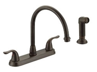 P4b-260orb Matco Ada Oil Rubbed Bronze Lf 8 In Centerset 4 Hole 2 Handle Kitchen Faucet With Matching Spray CATMATFPL4,P4B-260ORB,082647162372,BL-260ORB,082647162341,MATBL260ORB,