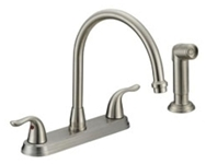 P4b-260ss Matco Ada Stainless Lf 8 In Centerset 4 Hole 2 Handle Kitchen Faucet With Matching Spray CATMATFPL4,P4B-260SS,82647146945,P4B260SS,MSF,BL-260SS,BL260SS,BL-260SS,BL-260SS,082647139435,LEAD FREE,P4B260SS,P4B-260SS,MATBL260SS,082647146945,