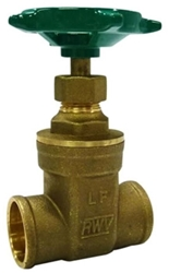 1 1/4 Swt Nrs Brass Gate Valve 200# Wog CAT220RW,268AB114,670779258072,SI8H,SI8,SGVH