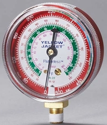 49035 Yellow Jacket Red Steel 1/8 R-410a Pressure Gauge CAT380RC,49035,686800490359