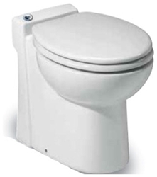 023 Saniflo Sanicompact 48 One Piece Toilet With Macerator Built Into The Base CATSANF,023,759370000231,SFP,SAN023
