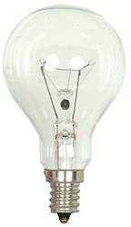 S4162 Satco A15 Incandescent 700 Lumens E12 Candelabra Base Clear Light Bulb CAT766,S4162,045923041624