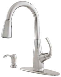 Pfist Selia Ada Stainlesslf 2 Hole 1 Handle Kitchen Faucet 2 Function Pull Down Spray CAT162,PPSF,038877577226,F-529-7SLS,F5297SLS
