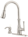 Gt529-whs D-w-o Price Pfister Wheaton Ada Ss Lf 1 Or 3 Hole 1 Handle Kitchen Faucet 2 Function Pull Down Spray CATO162SP,GT529-WHS,038877581117,MFGR VENDOR: PFISTER,PRCH VENDOR: PFISTER
