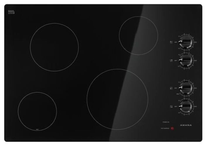 Amana 30 Black Cooktop Ada Radiant Electric CAT302A,883049429908