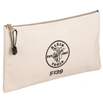 5139 Klein Tools Canvas Zipper Pouch CAT526,5139,092644553332