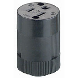114 Leviton Locking 125 Volts Black Tpe Rubber Electrical Receptacle CAT752,10037,EFP,L114,07847710037