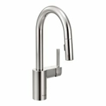 5965 Moen Align Polished Chrome Lead Free Single Hole 1 Handle Bar/prep Faucet Pull-down Spray CAT1612ND,5965,026508240007,MFGR VENDOR: MOEN,PRCH VENDOR: MOEN,