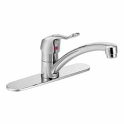 8701 Moen M-dura Ada Pc Lf 1 Or 3 Hole 1 Handle Kitchen Faucet Pull-on/push-off CAT161C,8701,026508129739,MSF,MSLF,
