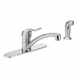 8707 Moen M-dura Ada Pc Lf 1 Or 3 Hole 1 Handle Kitchen Faucet Side Spray CAT161C,8707,026508206515,
