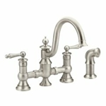 S713srs Waterhill Spot Resist Stainless Two-handle Kitchen Faucet CAT161PR,S713SRS,026508242070,
