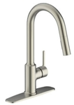 P4h-151ss Matco Single Handle Stainless Steel Kitchen Faucet High Arc Spout W/pulldown Spray Metal Lever Handle Ceramic Cartridge Integrated Supply Li CATMATFPL4,082647206991