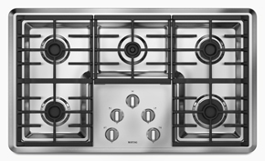 29 D-w-o Maytag Stainless Steel Gas Conventional Cooktop 36 Gas Stainless, (3) 9.2k, 10.5k, 12.5k, Gloss Finish Grates, Dw CATD302M,883049185026