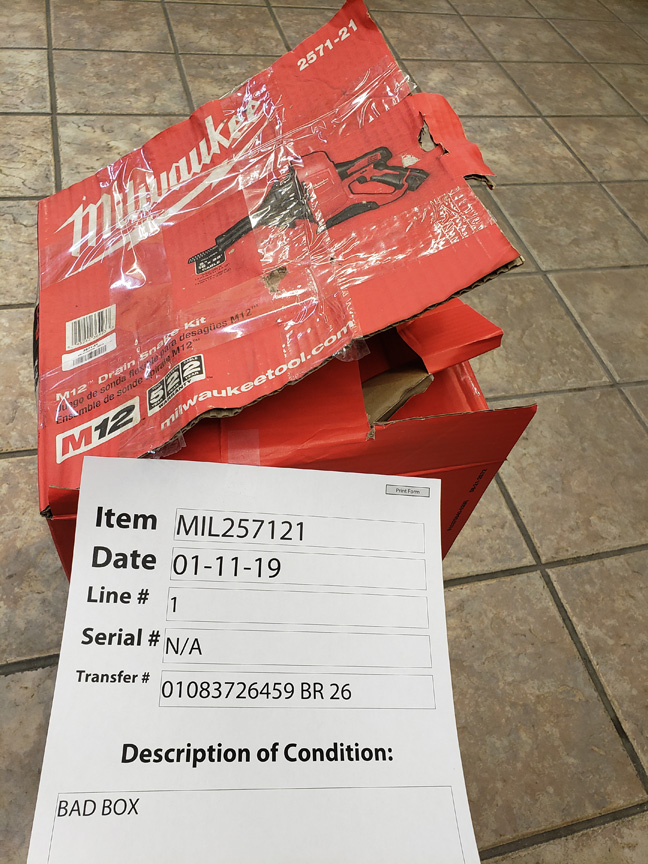 2571-21 Milwaukee M12 5/16 X 25 Auger Not Factory Fresh Packaging Status L - STALD532100