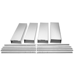 Extkit08es D-w-o Ventilation Island Hood Chimney Extension Kit Stainless Steel CATD302W,EXTKIT08ES,883049385983,CATD302W